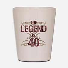 Men's Funny 40th Birthday Shot Glass