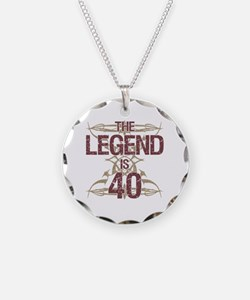 Men's Funny 40th Birthday Necklace