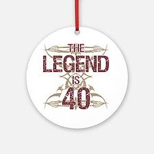 Men's Funny 40th Birthday Round Ornament