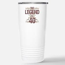 Men's Funny 40th Birthd Stainless Steel Travel Mug
