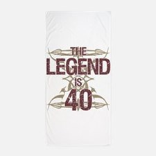 Men's Funny 40th Birthday Beach Towel