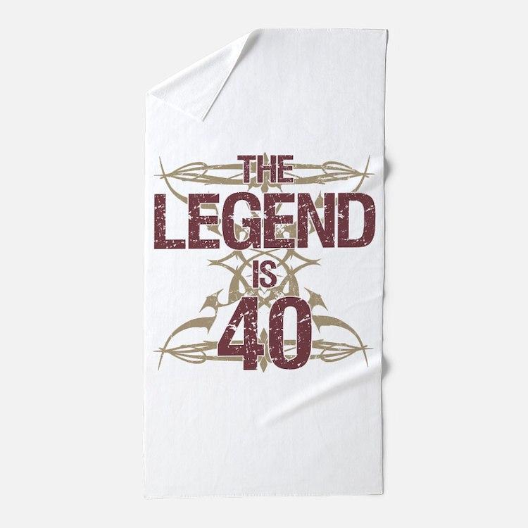 Men's Funny 40th Birthday Beach Towel