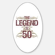 Men's Funny 50th Birthday Decal