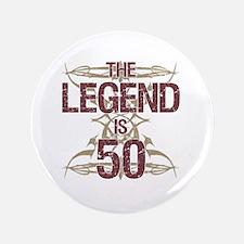 Men's Funny 50th Birthday Button