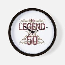 Men's Funny 50th Birthday Wall Clock