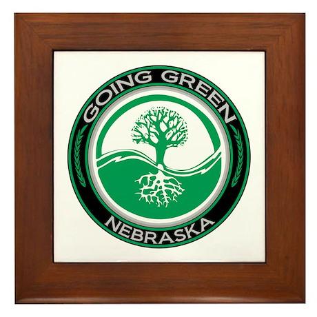 Going Green Nebraska (Tree) Framed Tile