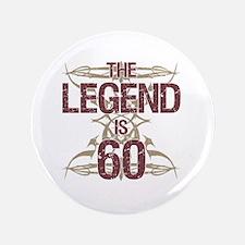 Men's Funny 60th Birthday Button