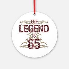 Men's Funny 65th Birthday Round Ornament