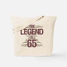 Men's Funny 65th Birthday Tote Bag