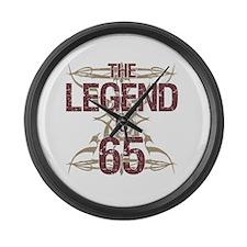 Men's Funny 65th Birthday Large Wall Clock