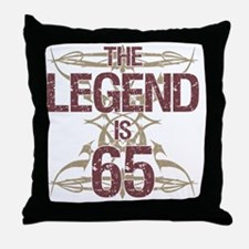 Men's Funny 65th Birthday Throw Pillow
