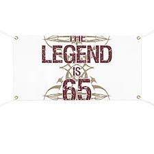 Men's Funny 65th Birthday Banner