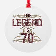 Men's Funny 70th Birthday Ornament