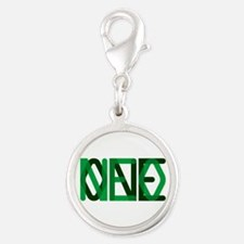 NEO ONE Silver Round Charm