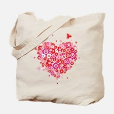Valentines Day Flowers Tote Bag