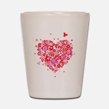 Valentines Day Flowers Shot Glass