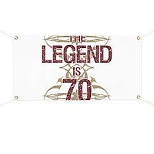 Men's Funny 70th Birthday Banner