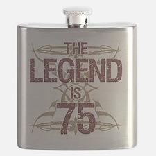Men's Funny 75th Birthday Flask