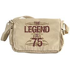 Men's Funny 75th Birthday Messenger Bag