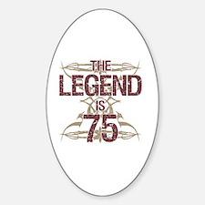 Men's Funny 75th Birthday Decal