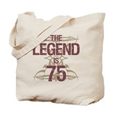 Men's Funny 75th Birthday Tote Bag