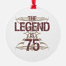 Men's Funny 75th Birthday Ornament