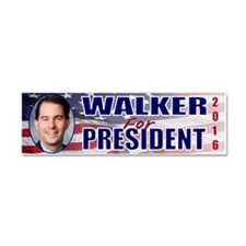 WOW! Scott Walker 4 President Car Magnet 10 x 3