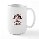 75th birthday men Large Mugs (15 oz)