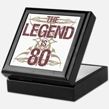 Men's Funny 80th Birthday Keepsake Box