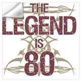 80th birthday Wall Decals