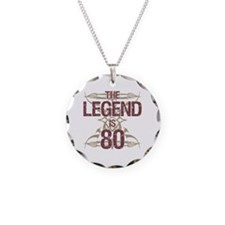 Men's Funny 80th Birthday Necklace