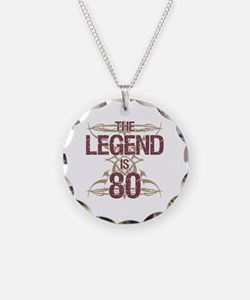 Men's Funny 80th Birthday Necklace