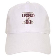 Men's Funny 80th Birthday Baseball Cap