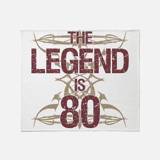Men's Funny 80th Birthday Throw Blanket