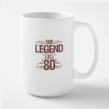 Men's Funny 80th Birthday Mugs