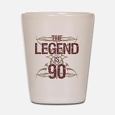 Men's Funny 90th Birthday Shot Glass