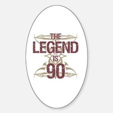 Men's Funny 90th Birthday Decal