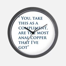 An Oliver Quote Wall Clock