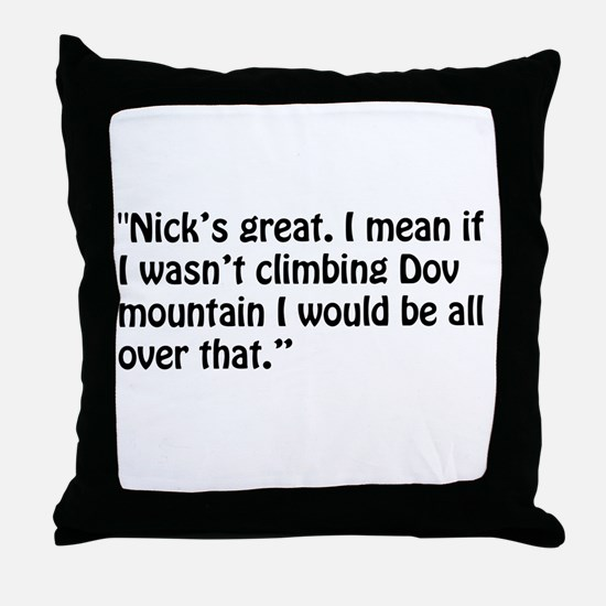 A Chloe Quote Throw Pillow