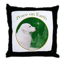 Kuvasz Peace Throw Pillow
