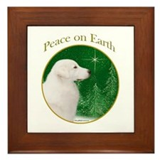 Kuvasz Peace Framed Tile