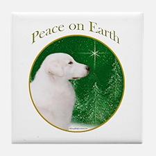 Kuvasz Peace Tile Coaster