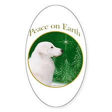 Kuvasz Peace Oval Decal