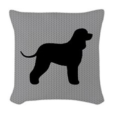 Irish Water Spaniel Woven Throw Pillow