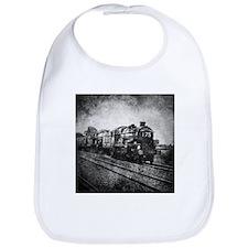rustic vintage steam train Bib