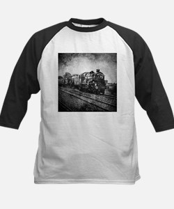 rustic vintage steam train Baseball Jersey