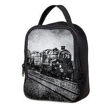 rustic vintage steam train Neoprene Lunch Bag