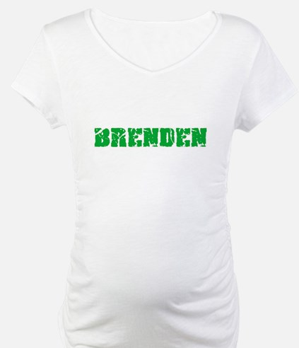 Brenden Name Weathered Green Des Shirt