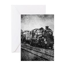 rustic vintage steam train Greeting Cards