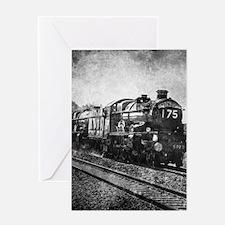 rustic vintage steam train Greeting Cards